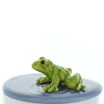 Fairy Garden Miniature Frog in Pond Ceramic Figurine Set by Hagen Renaker