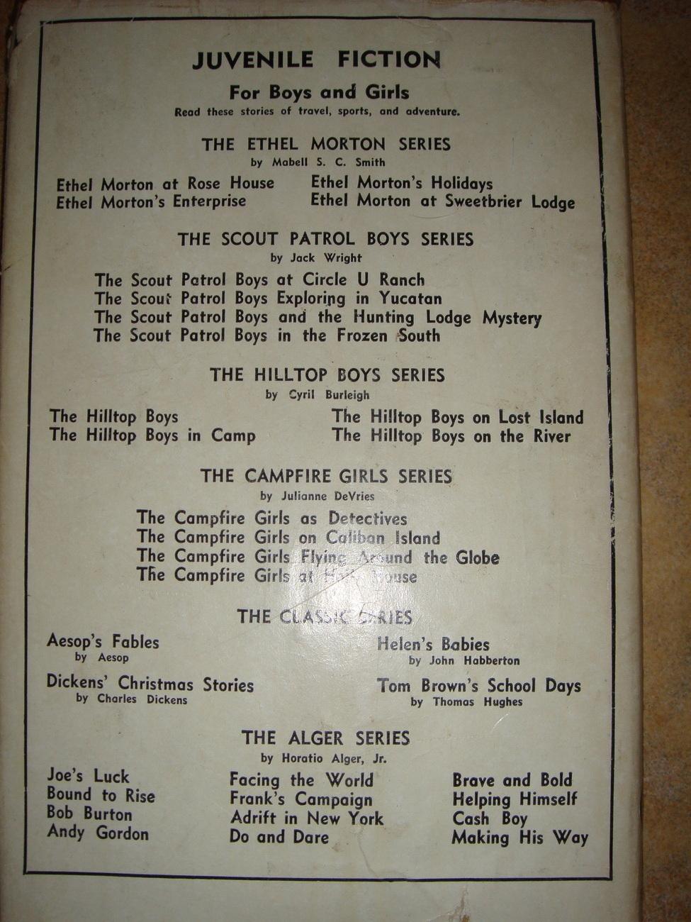 Ethel Morton's Holidays #3 by Mabel S. C. Smith hcdj