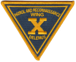 US Navy Official Patrol Wing 10 Patch & Sticker - $19.79