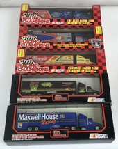 LOT OF 5 Racing Champions 1:64 Scale Racing Team Transporters Truck NASC... - $50.00