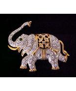 Glittery Rhinestone Elephant Pin - $8.95