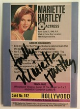 Mariette Hartley Signed Autographed 1991 Hollywood Walk of Fame Trading ... - $9.99