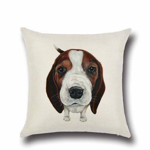 Cartoon Dog Puppy Cotton Linen Pillow Case Throw Cushion Cover Home Decor Cute