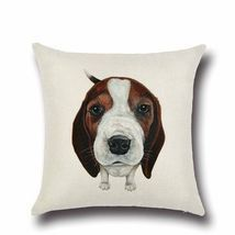 Cartoon Dog Puppy Cotton Linen Pillow Case Throw Cushion Cover Home Deco... - €4,89 EUR