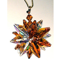 Small Aurora Borealis Crystal Suncluster Ornament image 3