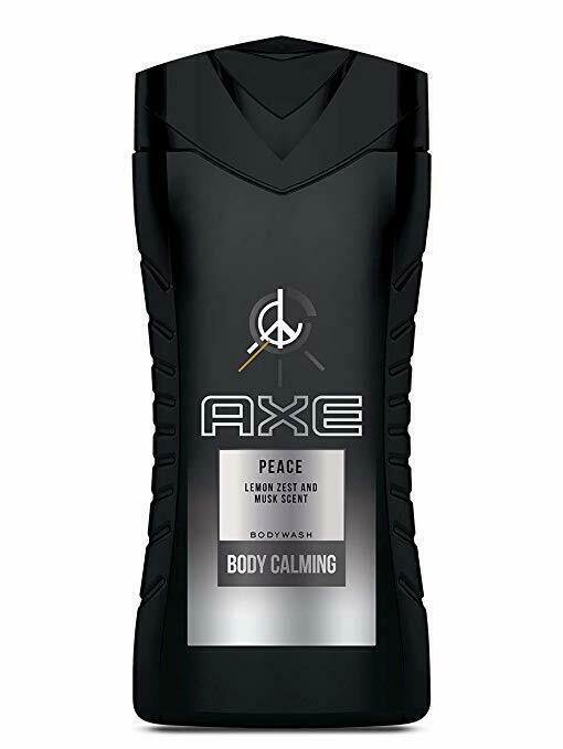 Primary image for 3 Pack Axe Peace Lemon Zest Musk Scent Bodywash Body Calming 250ml