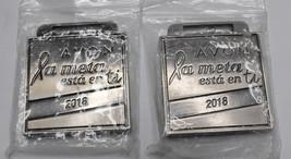 Lot of 2x Avon La Meta Esta En Ti 2018 Breast cancer walk medal - $9.98