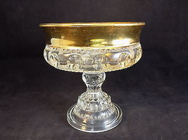Vintage Gold rimmed dimpled decorative CANDY Se... - $12.90