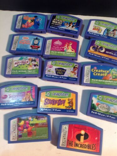 Primary image for Leapfrog Leapster Lot 14 Great Disney Games Thomas The Train Nemo Toy Story