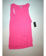 New NWT Womens Juicy Couture Viscose Raw Edge Tank Top Soft M Medium Sle... - $33.60