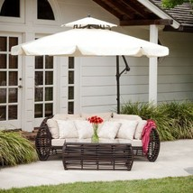 Patio Cantilever Umbrella Aluminum Iron Frame Canopy Garden Backyard Bro... - $480.16 CAD