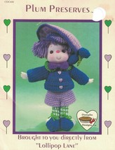Plum Preserves to Crochet from Lollipop Lane Dumplin Designs CDC406 Vint... - $7.91