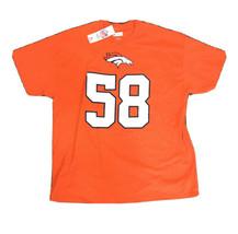 Denver Broncos #58 Von Miller Shirt Men's Cotton NFL Team Apparel Orange SIZE XL - $29.69