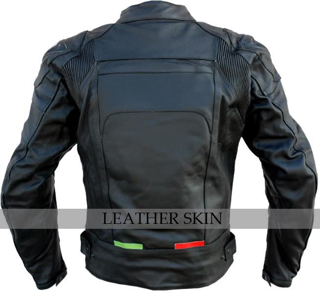 NWT Black Motorcycle Biker Racing Premium Genuine Real Pure Leather Jacket image 2