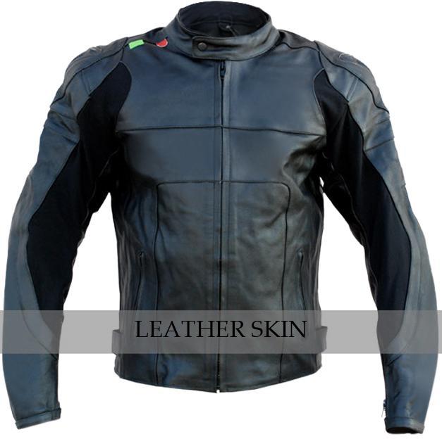 NWT Black Motorcycle Biker Racing Premium Genuine Real Pure Leather Jacket