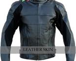 Black biker leather jacket front thumb155 crop