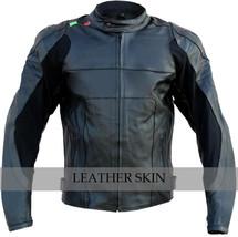 NWT Black Motorcycle Biker Racing Premium Genuine Real Pure Leather Jacket image 1