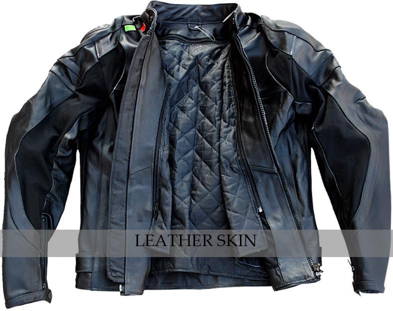 NWT Black Motorcycle Biker Racing Premium Genuine Real Pure Leather Jacket image 3