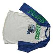 Junk Food Seattle Seahawks Sports Football Raglan Tee T-Shirt NWOT - $15.95