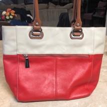 Tignanello Red & Tan Leather Purse Handbag - $85.00
