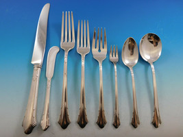 Lady Caroline by Gorham Silverplate Flatware Set for 12 Service 107 pcs Dinner - $650.00