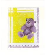"Bear - Purple - Acrylic on Canvas Board - Prints 8"" X 10"" - $35.00"
