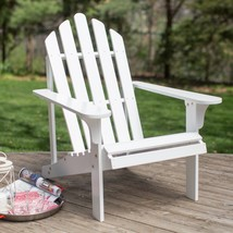 Country Cottage White Wood Adirondack Chair Comfort Back Outdoor Patio F... - $138.10