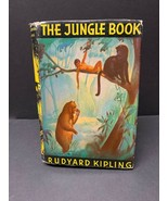 1932 The Jungle Book by Rudyard Kipling with Dust Jacket Vintage Antique... - $28.45