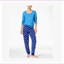 Family Pajamas Women's Hanukkah Mix-It Pajama Set, Lt Blue/Dk Blue, XL - $23.10