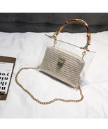 LEFTSIDE Transparent Bag For Women 2019 Handbag With Bamboo Handle Summe... - $24.78
