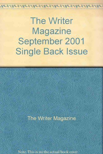 The Writer Magazine September 2001 Single Back Issue [Single Issue Magazine] ...