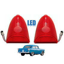 55 Chevy Red LED Tail Brake Stop Light Lens 150 210 Bel Air Nomad Delive... - $64.95