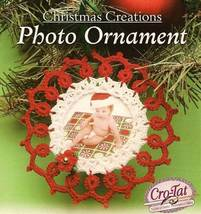 Y442 Crochet PATTERN ONLY Christmas Creations Photo Ornament Pattern - $7.50