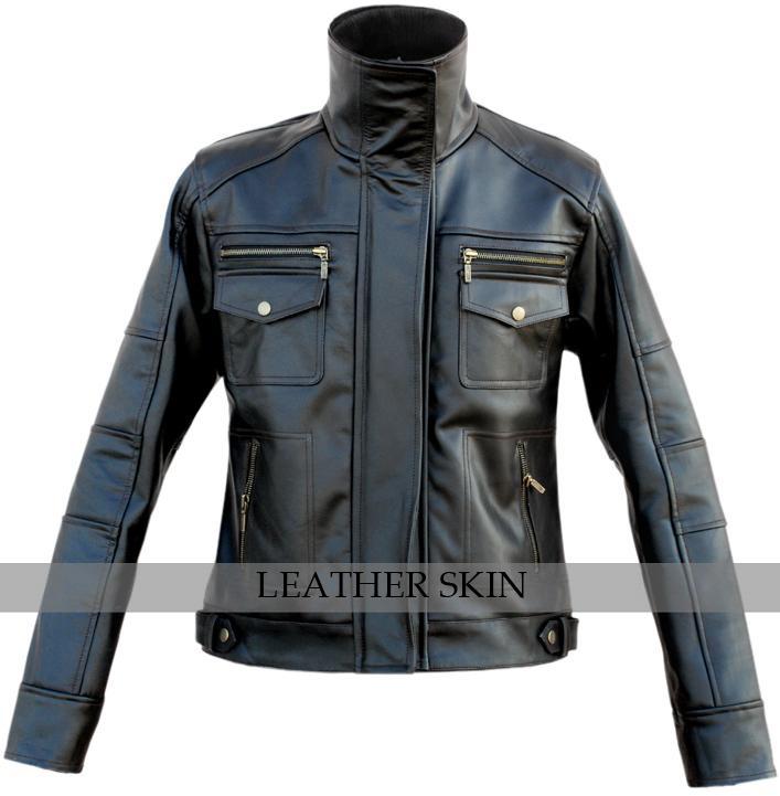 NWT Men Long Collar Black Premium Genuine Real Pure Leather Jacket