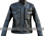 Black leather jacket front thumb155 crop