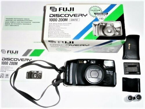 FUJI DISCOVERY 1000 30-80MM POWER ZOOM LENS, PANORAMA ADAPTER, MANUAL *UNTESTED* - $19.39