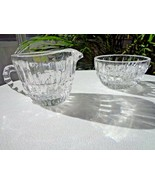 Crystal Clear Heirloom Pattern Small Cream & Sugar Set - $9.90