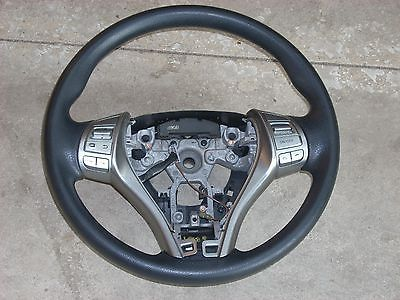 2013 NISSAN ALTIMA BLACK STEERING WHEEL WITH CRUISE AND RADIO CONTROL