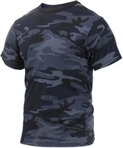 Mens Midnight Blue Camouflage Tactical Military Short Sleeve T-Shirt Dar... - $11.99+