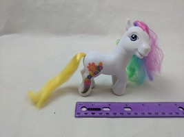 My Little Pony JADE GARDEN White & Rainbow Floral G3 Hasbro Played With - $6.00