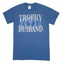 GILDAN TROPHY HUSBAND MEN'S SMALL BLUE COTTON T-SHIRT NEW - $9.97