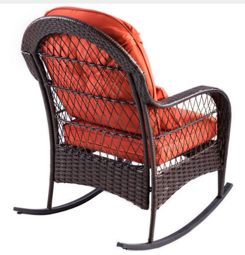 Patio Rattan Wicker Rocking Chair Modern Porch Deck Outdoor