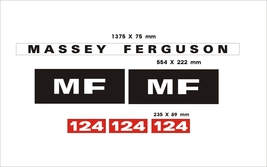 MASSEY FERGUSON 124 - Combine Harvester r decal set, reproduction - $75.00