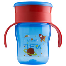 Philips Avent My First Big Kid Cup Blue/Red 9m+ 360 degree BPA Free 9 oz  - $6.68