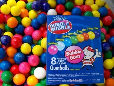 "100 Dubble Bubble Assorted 1"" Gumball  Gum Balls"