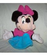 Minnie Mouse Walt Disney Plush Hand Puppet-Mattel-ArcoToys-10 inches tall - $8.00