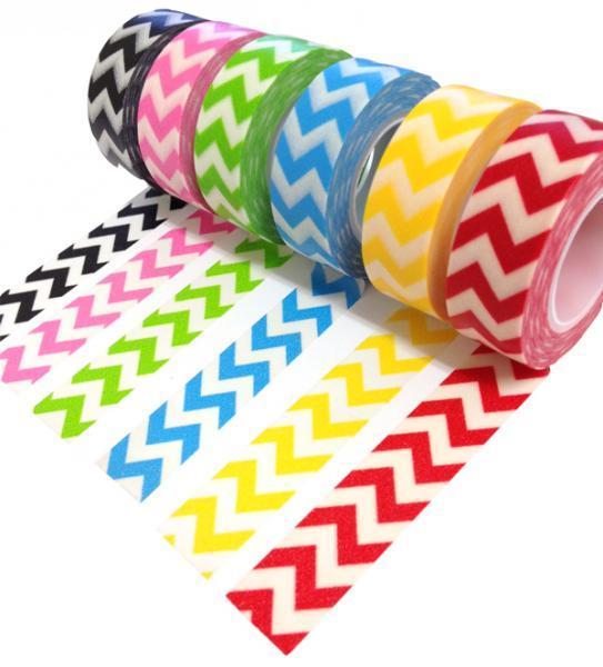 Chevron Trendy Tape Gift Set LOT 6 washi tape scrapbooking cardmaking crafting