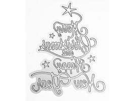 Merry Christmas & Happy New Year Script Die