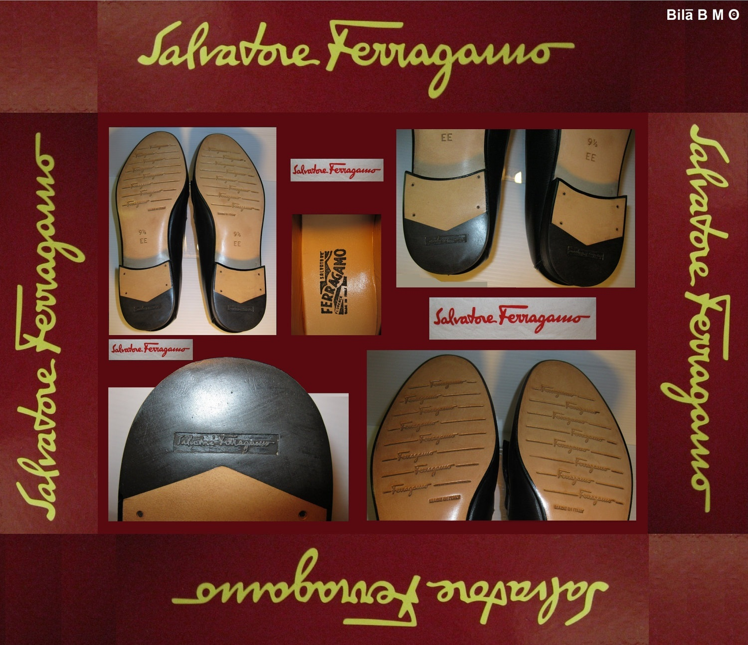SALVATORE FERRAGAMO SHOES-Size 9 1/2 EE-A Work of Art-Shoe Maker To The Stars