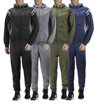 Men's Hooded Working Out Running Gym Fitness Casual Jogging Tracksuit 2 Pcs Set